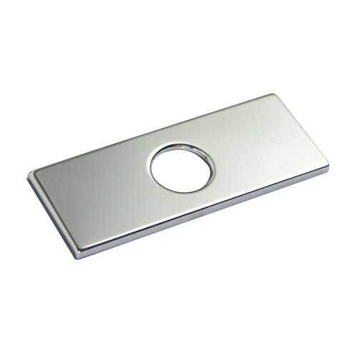 "4"" Rectangle Polished Chrome Bathroom Faucet Sink Hole Cover Deck Plate"
