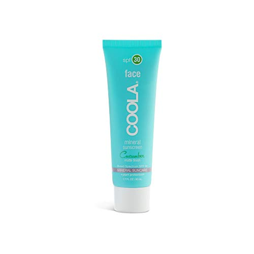 COOLA Mineral Face Sunscreen | Natural Cucumber Scent, Matte Finish | Broad Spectrum SPF 30 | Farm to Face Sourced | Antioxidant + Vitamin Rich | Hydrating | 1.7 Fl Ounces (Best Physical Sunscreen For Melasma)
