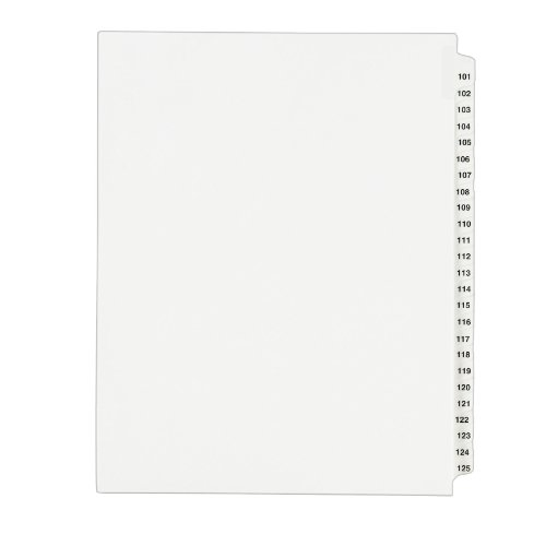 Cheap Avery Legal Dividers, Standard Collated Sets, 101-125 Tab Set (01334) for cheap