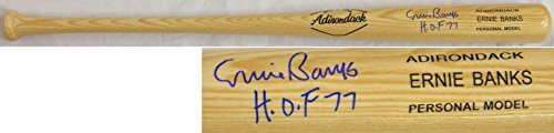 Ernie Banks Signed Rawlings Adirondack Blonde Name-Engraved Bat w/HOF'77 - PSA/DNA