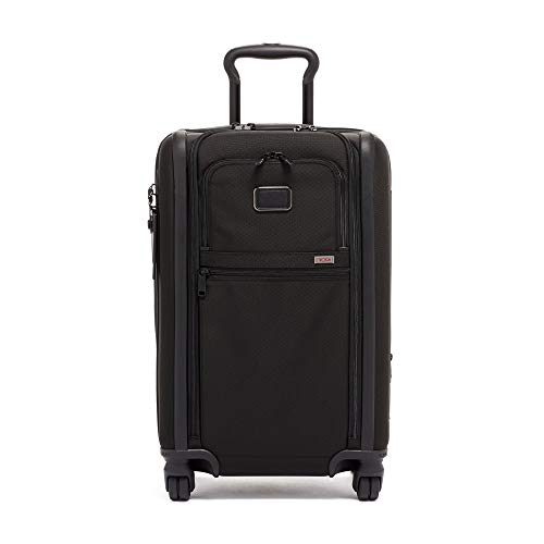 TUMI - Alpha 2 & Alpha 3 Expandable International 4 Wheeled Carry-On Luggage - 22 Inch Rolling Suitcase - Black