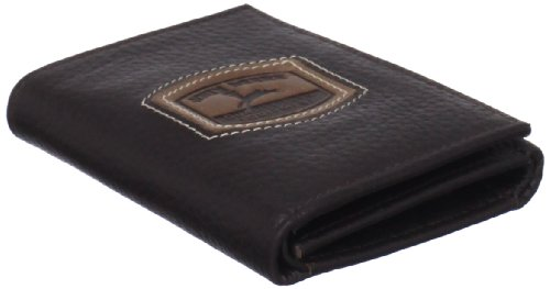 John Deere Men's Historical Logo Trifold Wallet, Brown, One Size