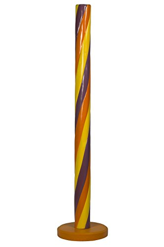 Queens of Christmas WL-CNDY-STK-POY Decorative Candy Stick, 5', Purple/Orange/Yellow -