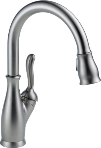 Delta Faucet 9178-AR-DST Leland Single Handle Pull-Down Kitchen Faucet with Magnetic Docking, Arctic Stainless by...