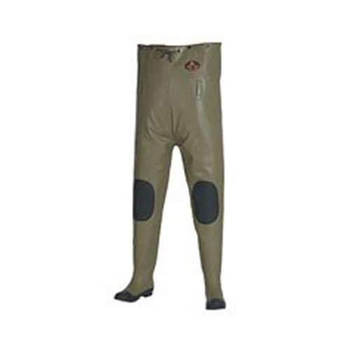 Pro Line Wading Boots (Pro Line Men's Stream Rubber Chest Waders Cleated, KHAKI, 11M)