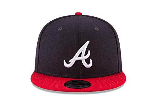 New Era 950 Atlanta Braves Basic Snapback, Navy/Red