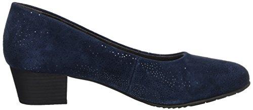 Jana 22305, Escarpins Femme Bleu (Navy Suede)