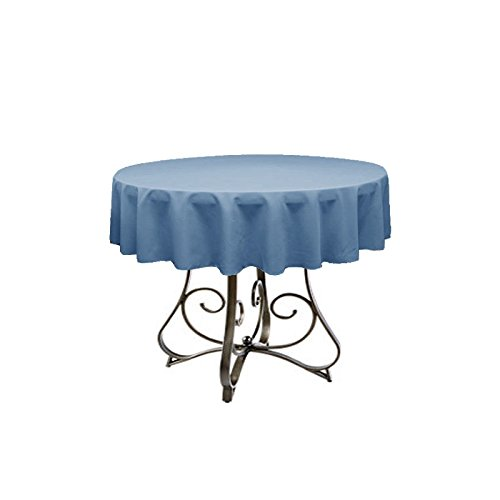 By Florida Tablecloth Restaurant Line Round 45'' Polyester (Steel Blue)