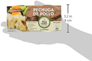 Casa Matachín Conserva Cárnica de Pechuga de Pollo de Aldea al Natural - Paquete de 16 x 180 gr - Total: 2880 gr