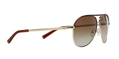 Armani Exchange Metal Unisex Polarized Aviator Sunglasses, Light Gold/Dark Brown, 61 mm by A X Armani Exchange (Image #11)