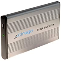 Cirago USB 2.0 External Portable Hard Drive 80 GB CST1080 Recertified R