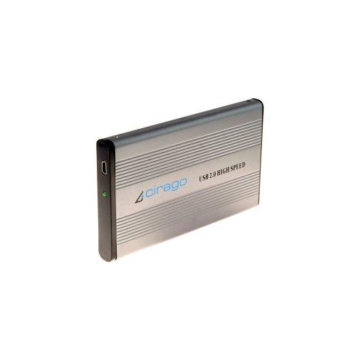 Cirago USB 2.0 External Portable Hard Drive 80 GB CST1080 Recertified R - Hard 80gb Portable Drive External