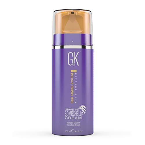Blonde Hair Bombshell (Global Keratin GKhair Leave In Bombshell Cream (100ml/ 3.4Oz) | Blonde Hair Smoothing Cream Removes Red Brassy Tones Removes Frizz Flyaways)