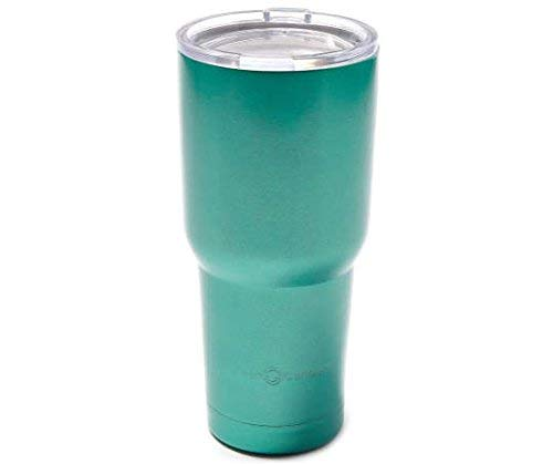 30 oz Stainless Steel Vacuum Insulated Tumbler with Lid, Double-Wall Vacuum Insulation Travel Cup & Coffee Mug No Sweating Keeps Drinks Hot or Cold (Teal) Canteen Double Wall Tumbler