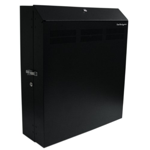 Wall-Mount Server Rack with Dual Fans and Lock - Vertical Mounting Rack for Server - 4U ()