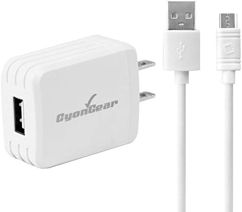 Fast Quick Charge 2 Wall Charger works with LeEco Le MAX Pro includes USB TypeC Port and Cable. 15W // Black // UL
