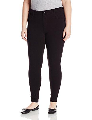 Celebrity Pink Jeans Women's Plus Size Power Ponte Super Skinny Jeans, Black, ()