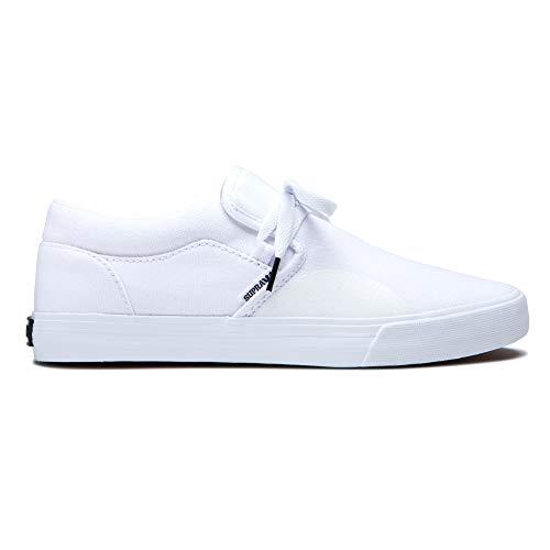 Supra Footwear - Cuba Low Top Skate Shoes, White, 10 M US Women/8.5 M US Men
