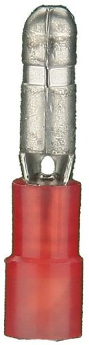 Install Bay RNMB Nylon Male Bullet Connector 22/18 Gauge .156, Red (100-Pack)