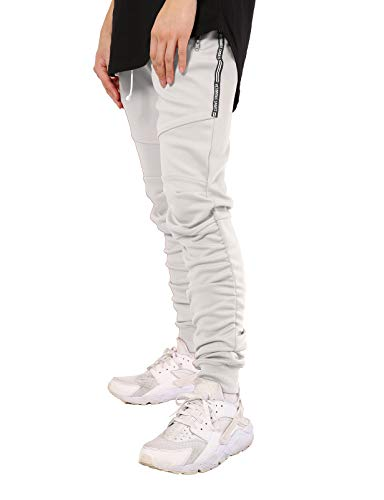 JD Apparel Mens Hipster Track Jogger Patnts with Shirring Bo