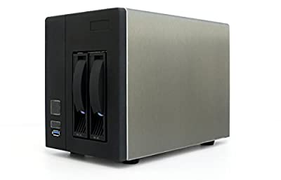 "Will Jaya 2-Bay NAS 3.5"" SATA HDD Hot-Swap Premium Mini-ITX NAS Cloud Storage Enclosure with 150W 1U Flex PSU"