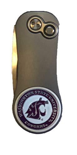 Pitchfix Washington State Cougars Fusion GUNMETALRED Divot Tool W/Golf Ball Marker ()