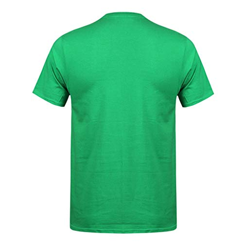 Allywit-Mens Spring Summer Casual Fashion Cute Printing O-Neck Short Sleeve Cotton T-Shirt Green by Allywit-Mens (Image #1)