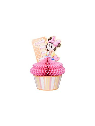 Minnie Mouse 1st Birthday Honeycomb Centerpiece (1ct) ()