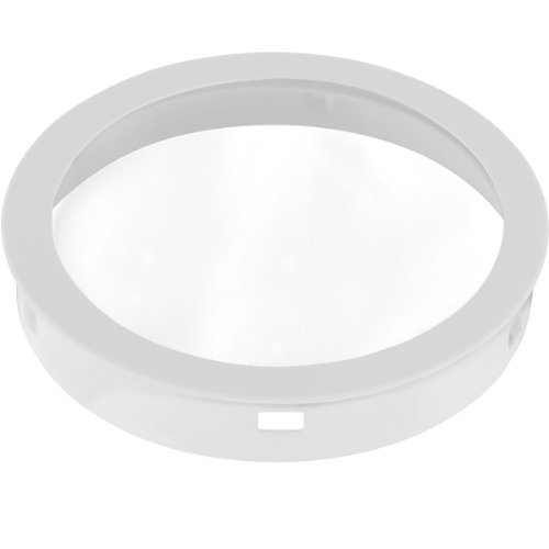 Progress Lighting P8799-30 Top Cover Lenses For P5675 Cylinder Adapts Up/Down Fixtures For Wet Location Use Heat and Shatter-Resistant Clear Tempered Lens with Black Trim, White by Progress Lighting