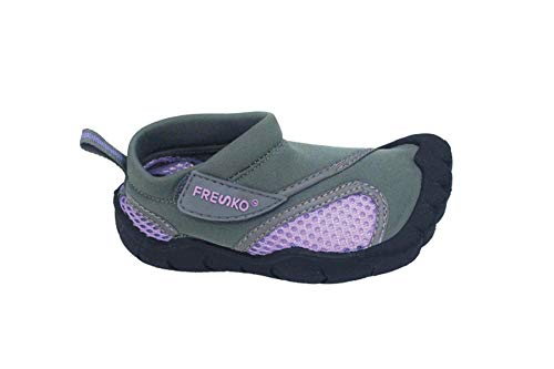 Fresko Toddler Water Shoes for Boys and Girls, T2110, Grey/Purple, 8 M US Toddler]()