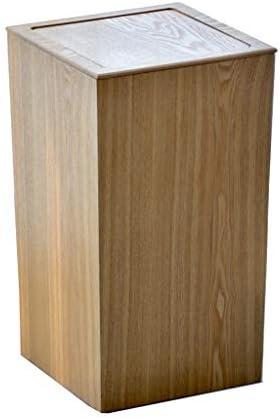 長い管のごみ箱、スイング蓋タイプ酷いビン、12 Bboveガロン容量、バスルームには、キッチン、ホームオフィス酷いごみ箱 (Color : Fraxinus mandshurica)