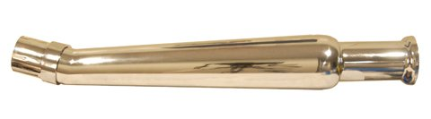 Emgo Bell-End Megaphone, Upswept, Left Side Universal Muffler - Chrome , Color: Chrome 80-84012