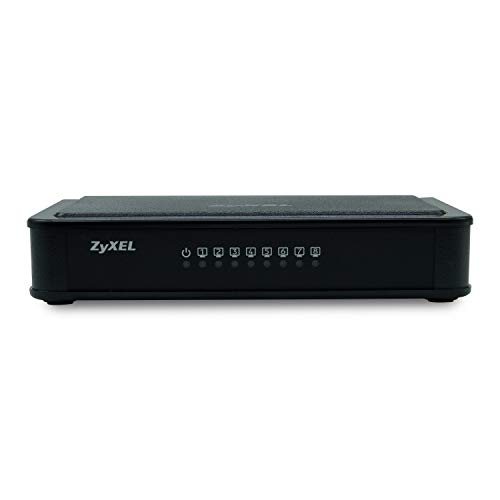 Zyxel 8 Port Unmanaged Desktop Fast Ethernet Switch  ES 108E