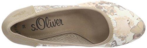 s.Oliver 22421 - Tacones Mujer Beige - Beige (BEIGE FLOWER 407)