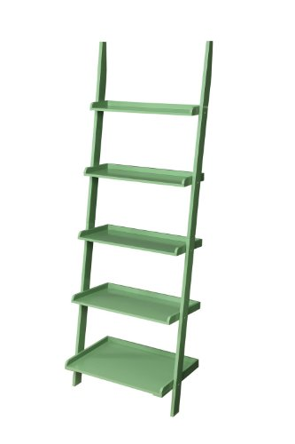 Convenience Concepts French Country Bookshelf Ladder, Green by Convenience Concepts