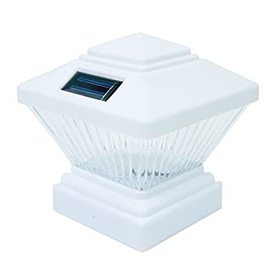 Commart 8 White Outdoor Garden Solar LED Post Deck Cap Square Fence Light Landscape Lamp Ships from USA