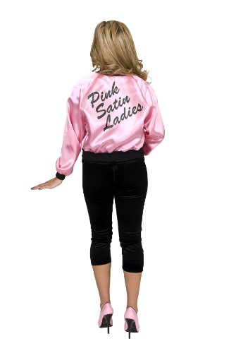 Charades Women's Pink Satin Ladies Costume Jacket, Small -