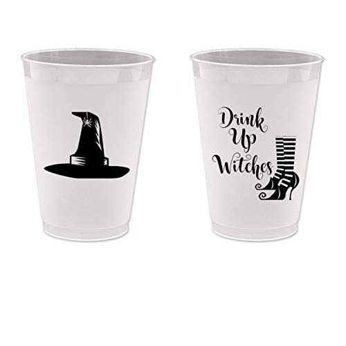 Halloween Frost Flex Plastic Cups - Drink up Witches (10 cups)
