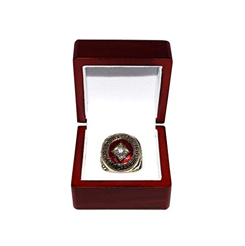 ST. LOUIS CARDINALS (Bill White) 1964 WORLD SERIES CHAMPIONS Vintage Rare & Collectible High-Quality Replica Baseball Gold Championship Ring with Cherrywood Display Box (1964 St Louis Cardinals World Series Ring)
