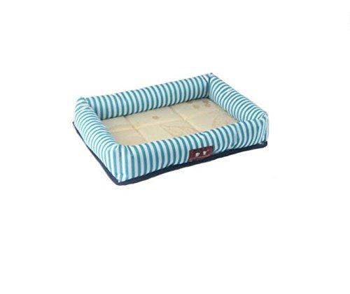 Happy- little -bear Summer Cool Traspirante Kennel Cat Nest Mat blu