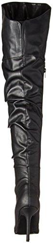Leather Pleaser 3011 Blk Faux Classique CrwqIr