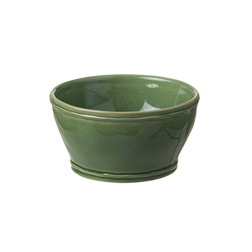 """Casafina Stoneware Ceramic Dish Fontana Collection Soup Cereal Bowl, 6"""" (Forest Green)"""