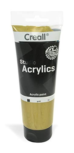 - American Educational Products A-33619 Creall Studio Acrylics Tube, 250 mL, 19 Gold