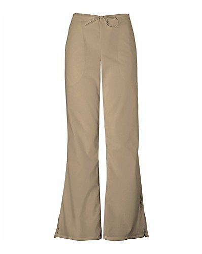 Cherokee Women's Workwear Scrubs Flare-Leg Drawstring Pant Dark Khaki Petite ()