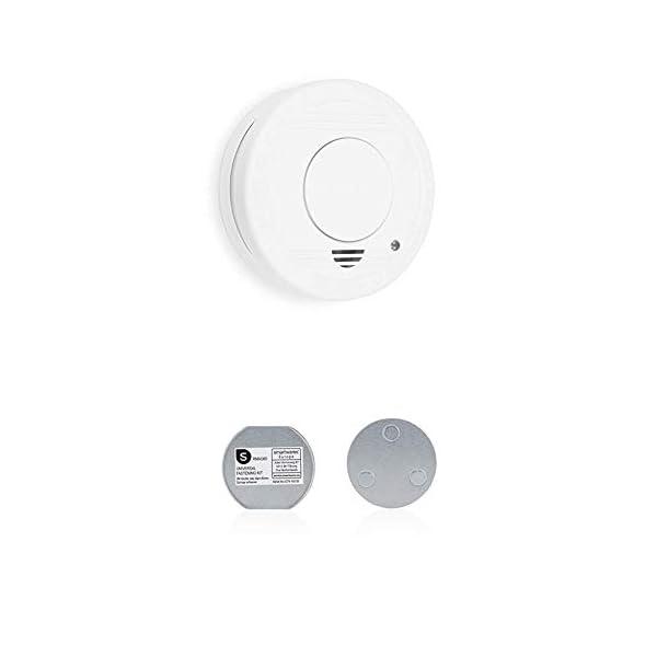 31IZ0XE16UL Smartwares FSM-11510 Rauchmelder/Feuermelder, 5 Jahre Batterie TÜV-Zertifiziert RM250, Weiß, 1er Pack