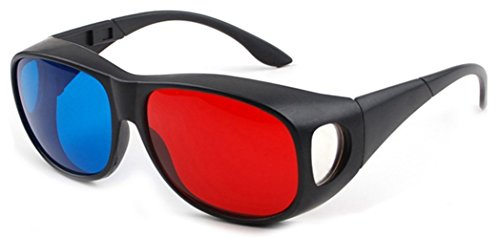 Red-Blue/Cyan Anaglyph 3D Glasses 3D Movie Game-Extra Upgrade Style 2Pcs in -