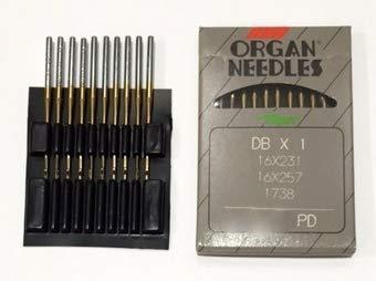 metric 125 Size 20 100 DBX1 16X231 16X257 1738 TITANIUM Industrial Sewing Machine Needles