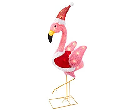 "Big Lots Stores Light Up Flamingo Christmas Yard Lawn Decoration Pink  38"" Holiday Decor - Amazon.com: Big Lots Stores Light Up Flamingo Christmas Yard Lawn"
