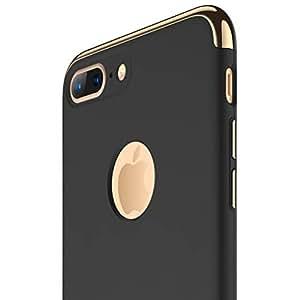 Funda iPhone 7 plus, RANVOO 3 en 1 Anti-Scratch Anti-huella dactilar a prueba de choque Marco Electroplate con superficie antideslizante cubierta Excelente agarre el caso para el iPhone 7plus