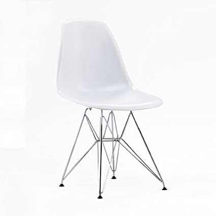 Stunning replica eames dsr side chair eiffel base steel for Chaise eiffel eames